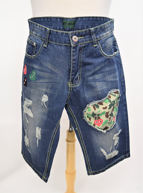 PLAY Comme Des Garcons Distressed Jean Shorts Size 34