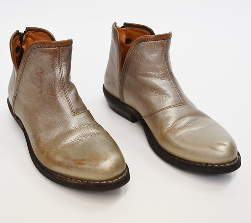 Fiorentini & Baker Gold Leather Booties Size 7