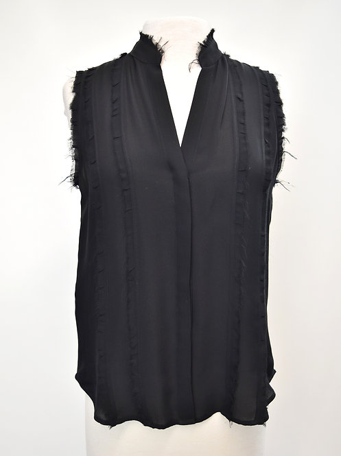 L'Agence Black Silk Top Size Medium