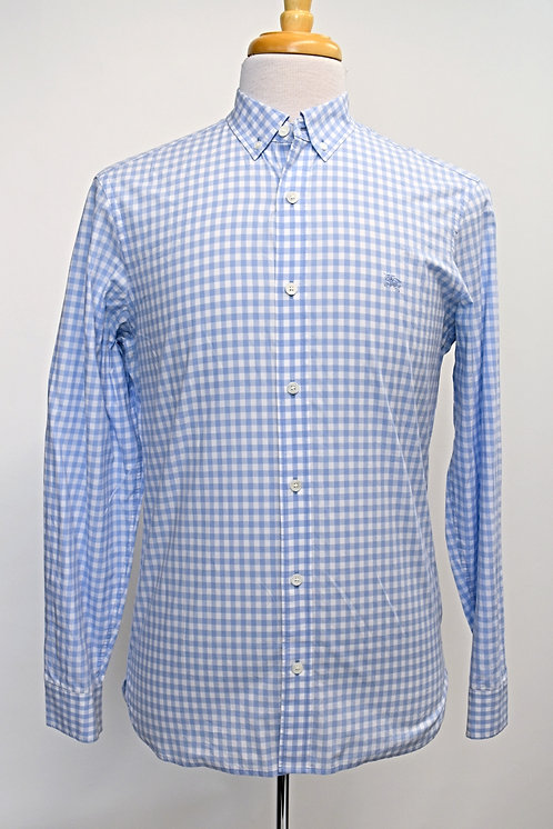 Burberry Blue Check Shirt Size Medium