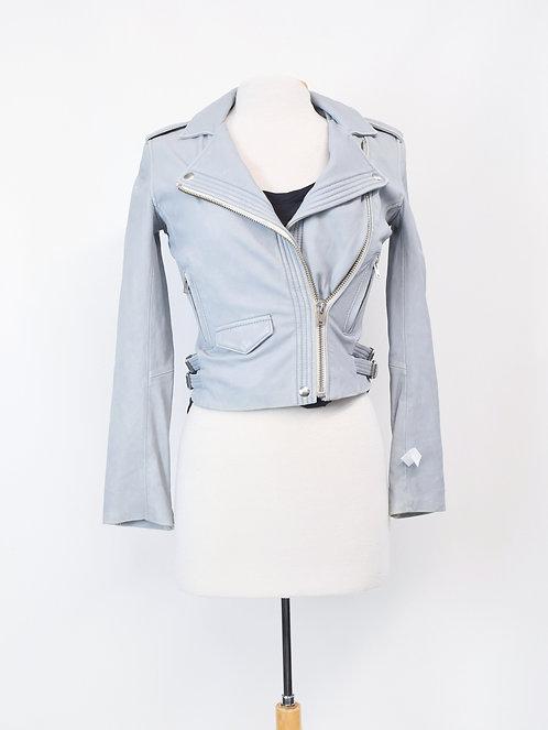 IRO Powder Blue Leather Jacket Size XS