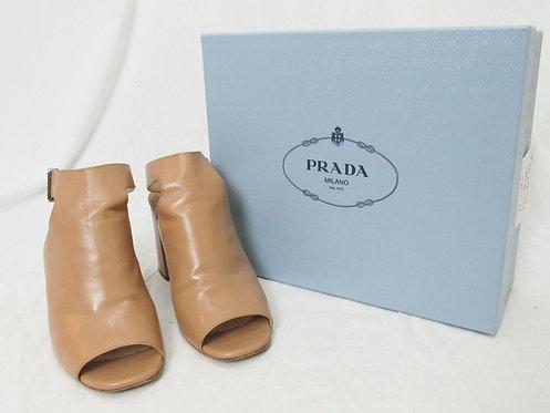 Prada Tan Leather Heels Size 9.5