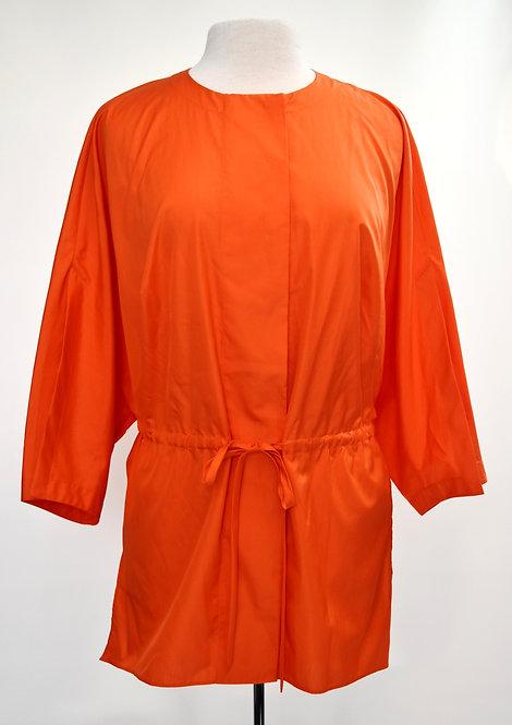 AKRIS Orange Cotton Blouse Size Large
