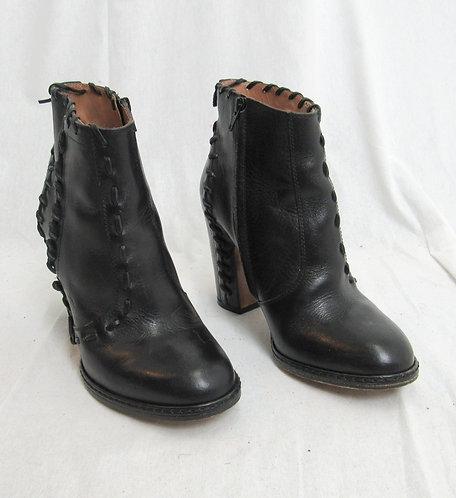 Maison Martin Margiela Black Leather Booties Size 7.5