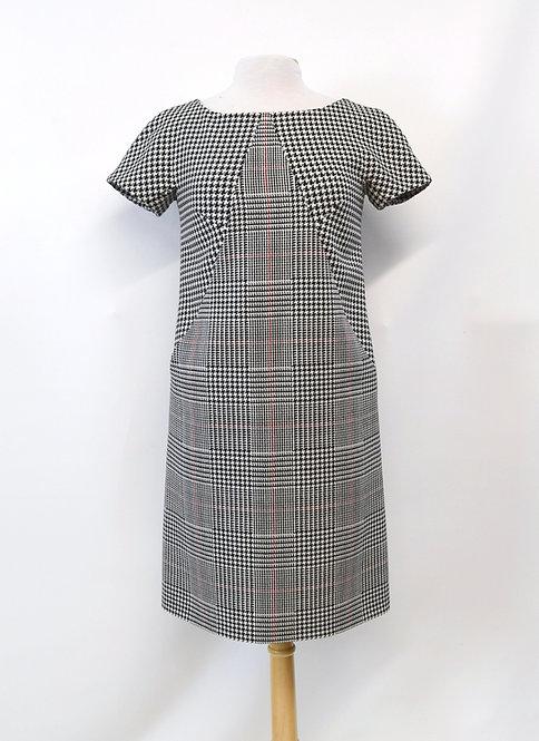Michael Kors Black & White Print Dress Size Small (4)