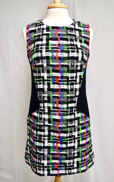 Milly Black & White Plaid Dress Size Small 6