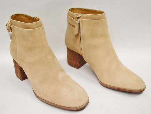 Tory Burch Nude Suede Booties Size 10