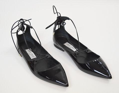 Jimmy Choo Black Patent Leather Flats Size 9