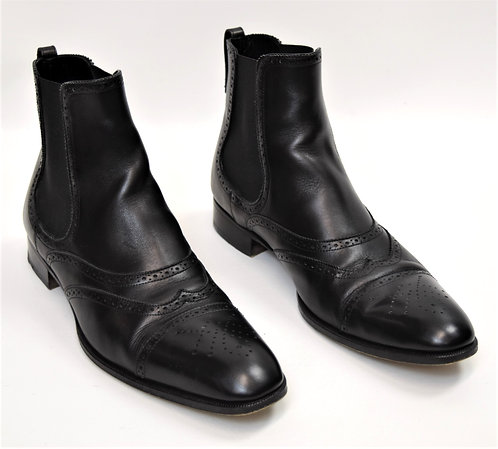 YSL Black Leather Boots Size 10.5