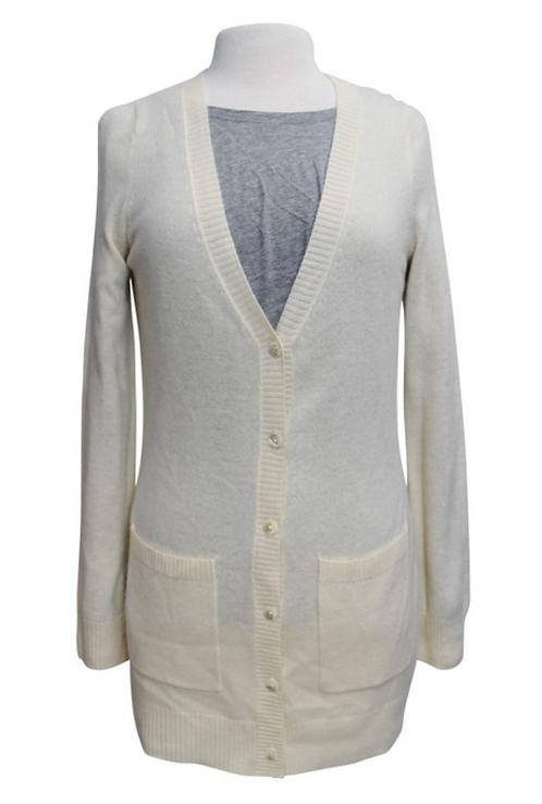 Neiman Marcus Cream Cashmere Cardigan Size XS