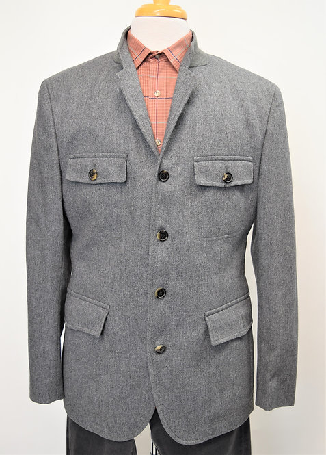 Hugo Boss Gray Button Down Jacket Size 42R
