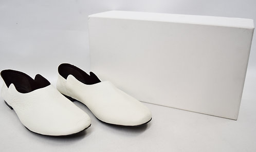 The Row White Leather Flats Size 9.5