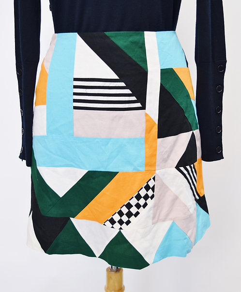 MSGM Multi Colored Mini Skirt Size Small