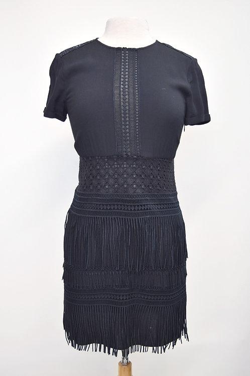 Maje Navy Fringe Mini Dress Size XS (2)