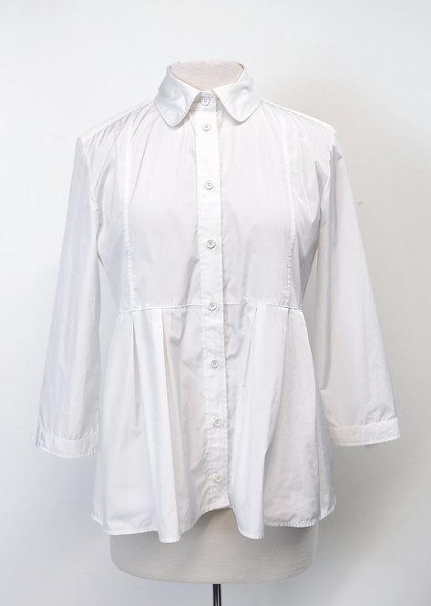 Burberry White Button-Down Blouse Size 10