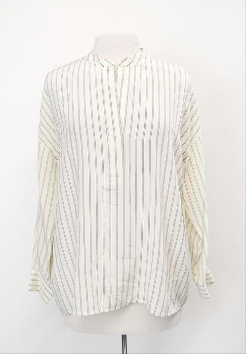 Vince Ivory Stripe Blouse Size Medium