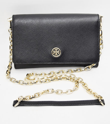 Tory Burch Black Leather Crossbody Purse