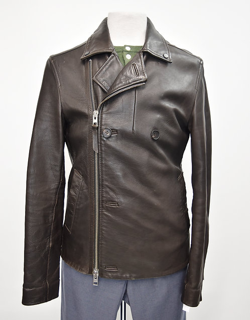 AllSaints Brown Leather Jackets Size Medium