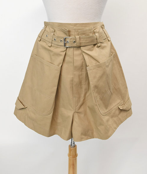 Isabel Marant High-Rise Pleated Shorts Size Small (4)