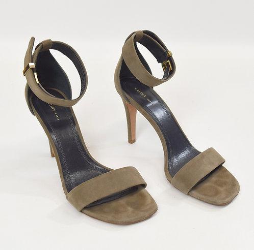 Celine Slate Green Suede Heels Size 7.5