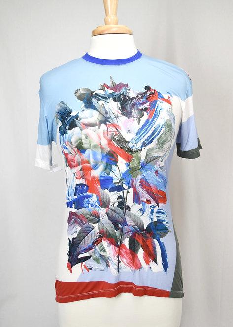 Prabal Gurung Blue Graphic T-Shirt Size XS