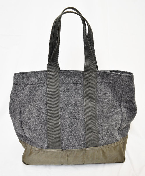 Comme Des Garcons Gray Wool Tote
