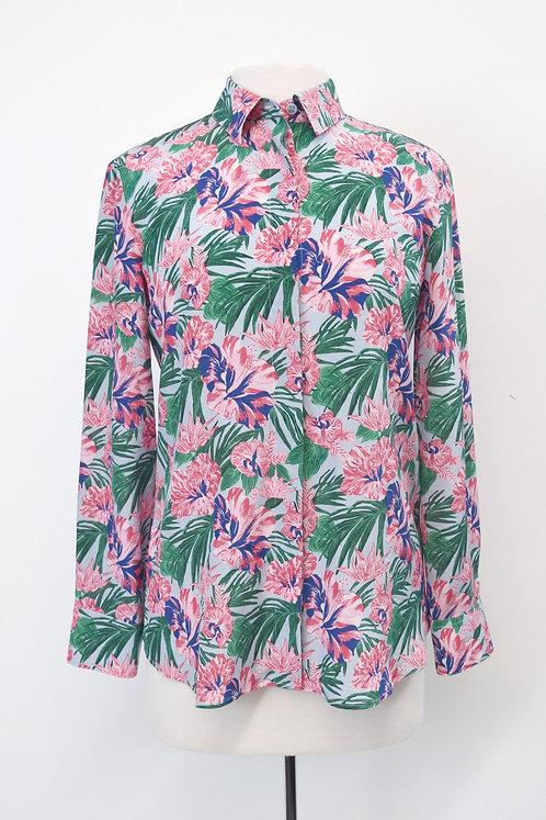 Altuzarra Tropical Floral Print Blouse Size XS