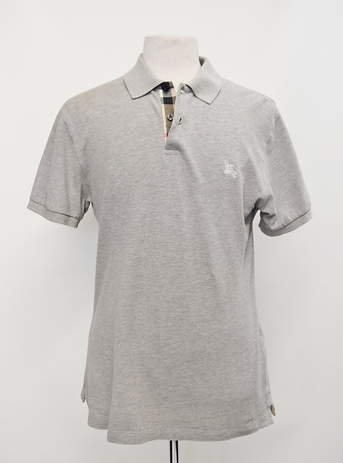 Burberry Gray Polo Shirt Size XL