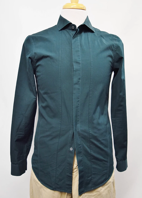 Jil Sander Dark Teal Dress Shirt Size Medium