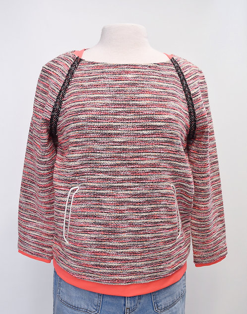 McGinn Pink Knit Sweater Size Large