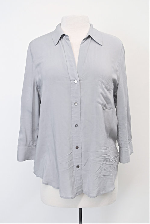 L'Agence Gray Button Down Blouse Size Large