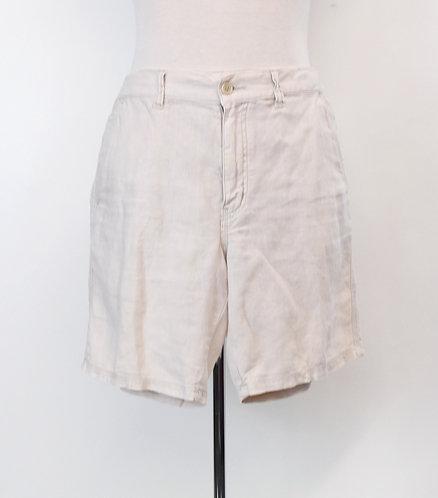 John Varvatos Ivory Linen Shorts Size 34