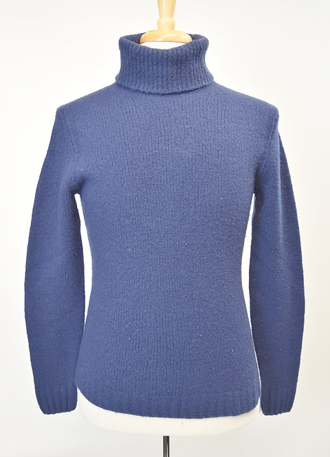 Esemplare Blue Turtleneck Sweater Size Large