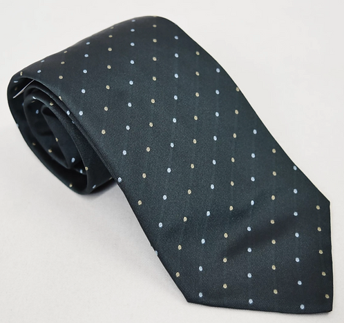 Givenchy Gray Polka Dot Silk Tie