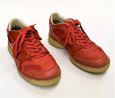 Alexander McQueen x Puma Red Leather Sneakers Size 9