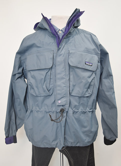 Patagonia Ice Blue PullOver WindBreaker Size Large