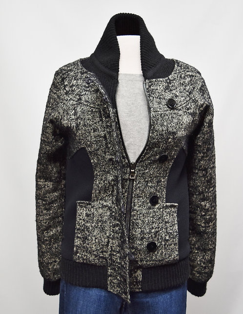 Proenza Schouler Gray & Black Jacket Size Small
