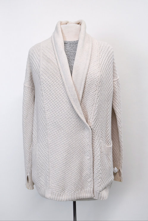 Lululemon Ivory Knit Cardigan Size Small