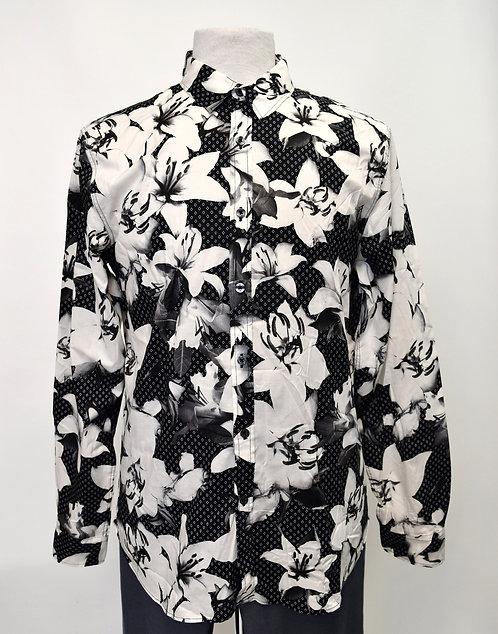 Paul Smith Black & White Print Shirt Size Large