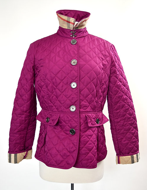 Burberry Magenta Quilted Jacket Size Large