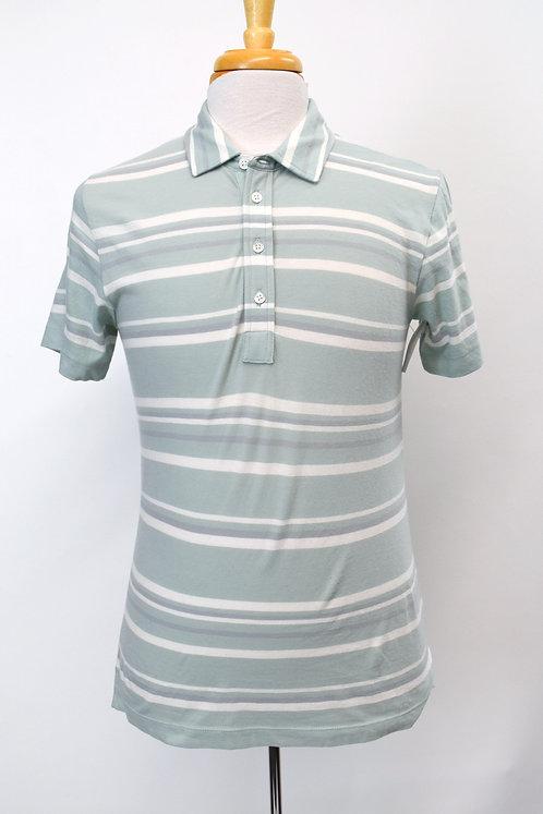 Billy Reid Pale Green Stripe Polo Size Medium