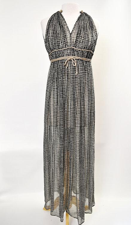 3.1 Phillip Lim Black Print Maxi Dress Size 0