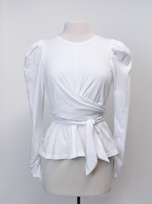 A.L.C. White Wrap Shirt Size Medium