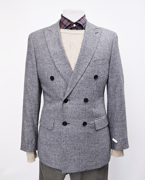 Reiss Gray Double Breasted Blazer Size 40R