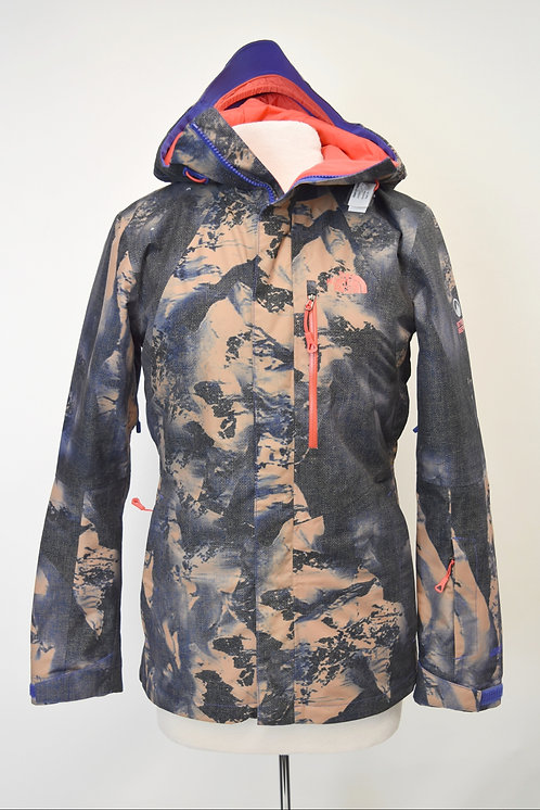 The North Face Navy & Tan Print Coat Size XS