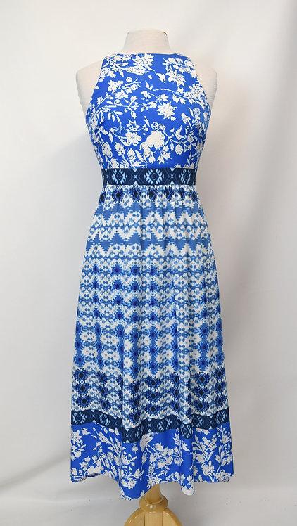 Cynthia Steffe Blue Print Maxi Dress Size XS (2)