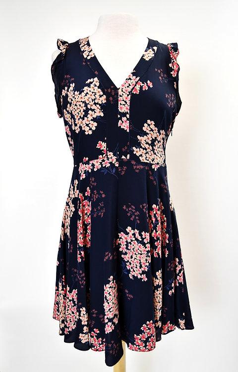 Rebecca Taylor Navy Floral Dress Size 6