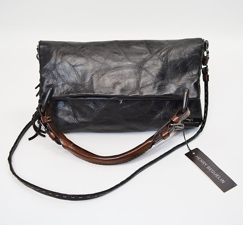 Henry Beguelin Black Leather Crossbody Purse