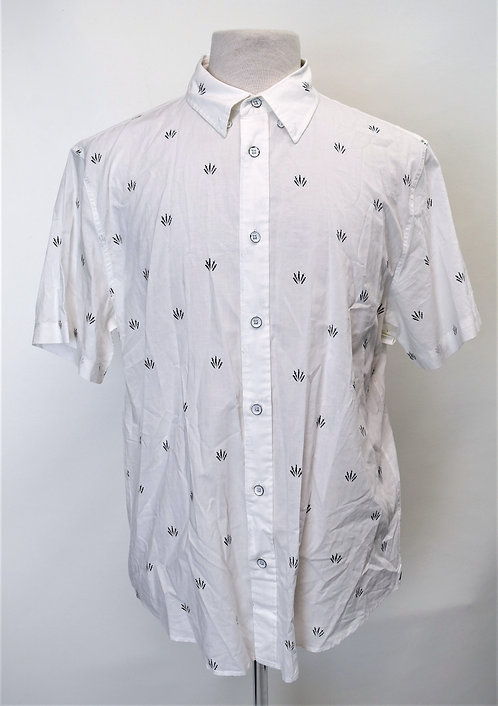 Rag & Bone White Print Shirt Size Large