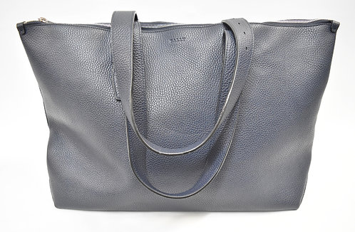 Bally Navy Leather Tote